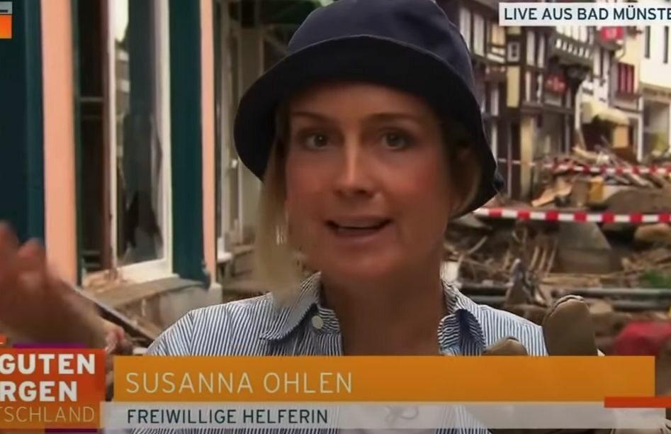 Dziennikarka miała pomagać powodzianom, ale została przyłapana. Wszystko nagrano