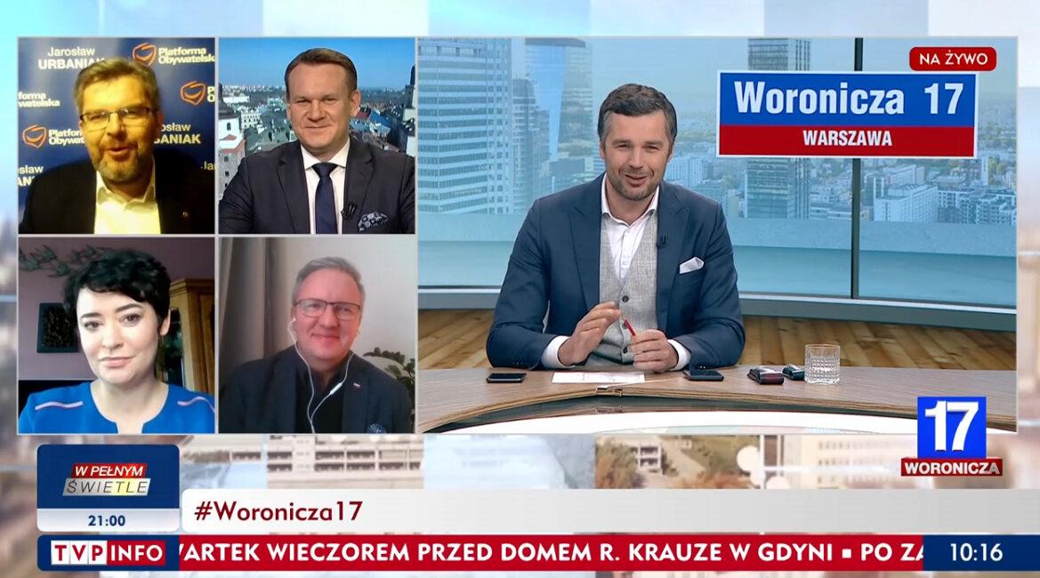 """Fragment programu """"Woronicza 17"""" na antenie TVP Info"""