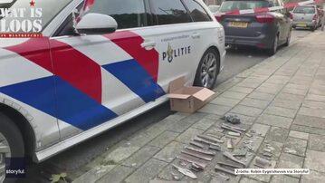 Fragmenty samolotu, który miał awarię nad Holandią