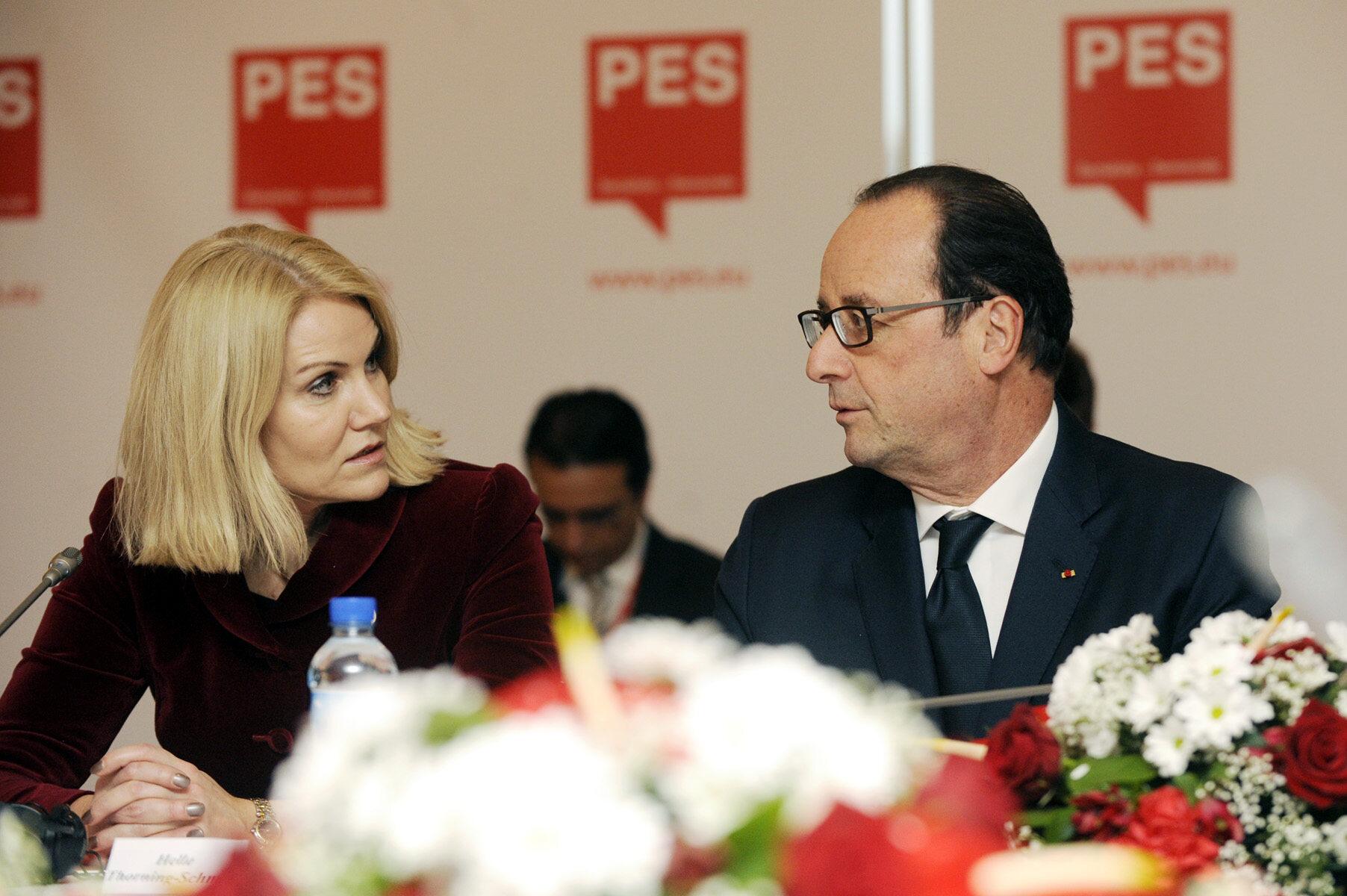 Francois Hollande oraz Helle Thorning-Schmidt