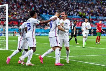 Francuzi w meczu z Portugalią