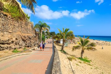 Fuerteventura. Promenada w Morro Jable