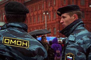 Funkcjonariusze OMON w Moskwie