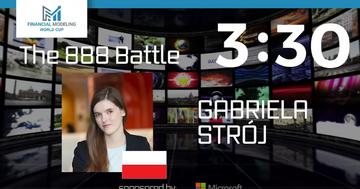 Gabriela Strój, kadr z transmisji z zawodów