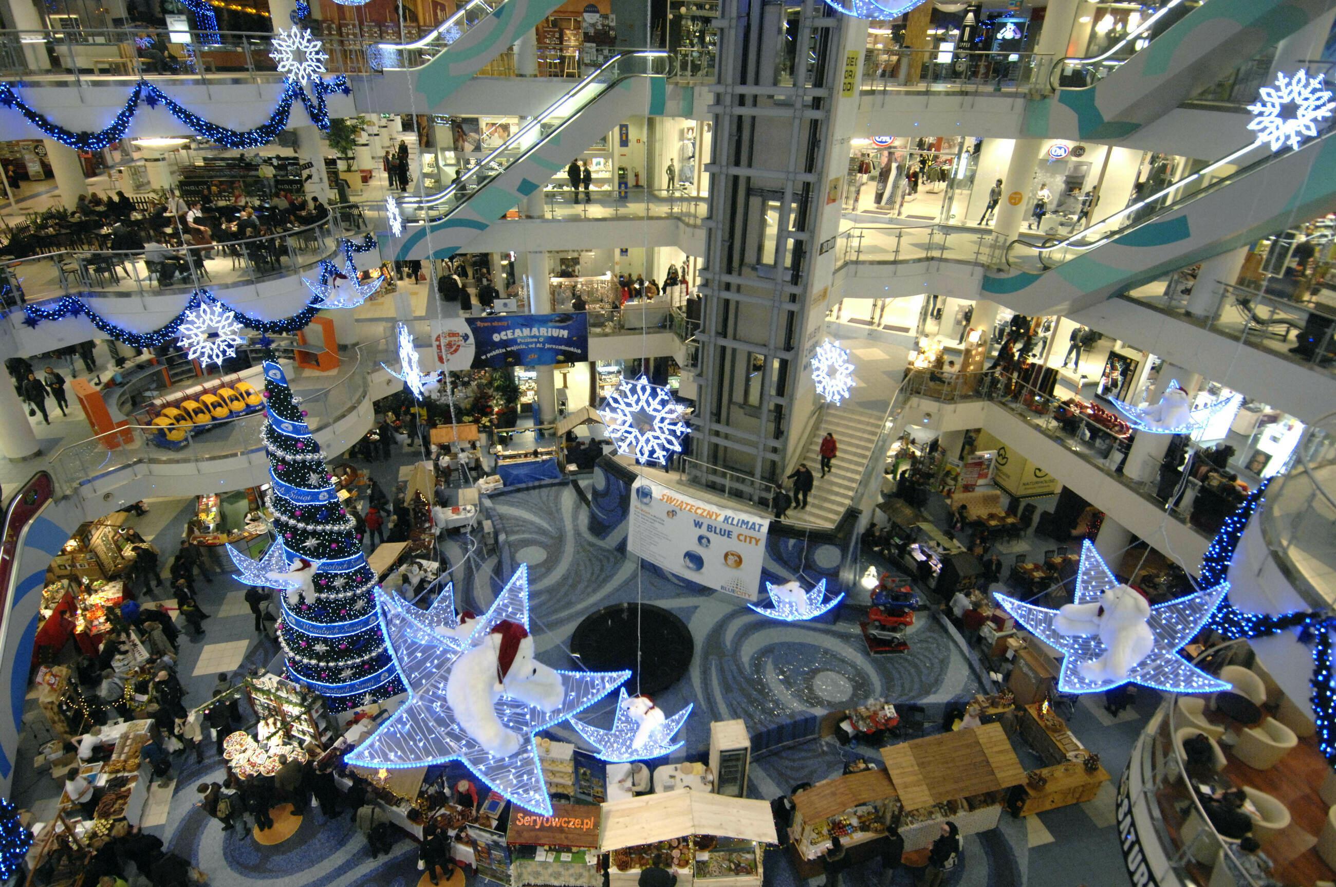 Galeria handlowa przed świętami