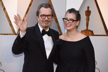 Gary Oldman i jego żona Gisele Schmidt