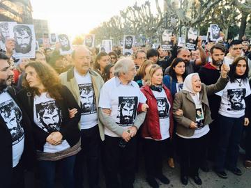 """""""Gdzie jesteś Santiago?"""" pytali demonstranci i rodzina na jednej z demonstracji"""