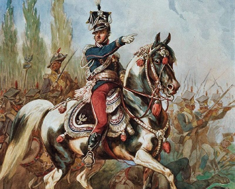 Gen. Jan Henryk Dąbrowski na czele Legionów