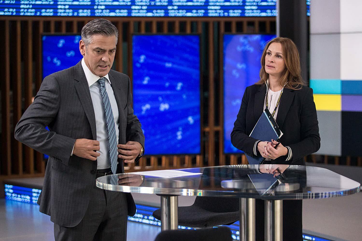 "George Clooney i Julia Roberts w filmie ""Zakładnik z Wall Street"""