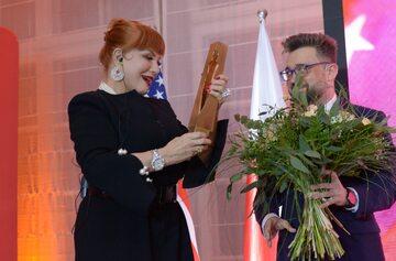 Georgette Mosbacher i Marcin Dzierżanowski