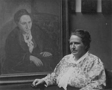 Gertrude Stein obok jej portretu autorstwa Picassa