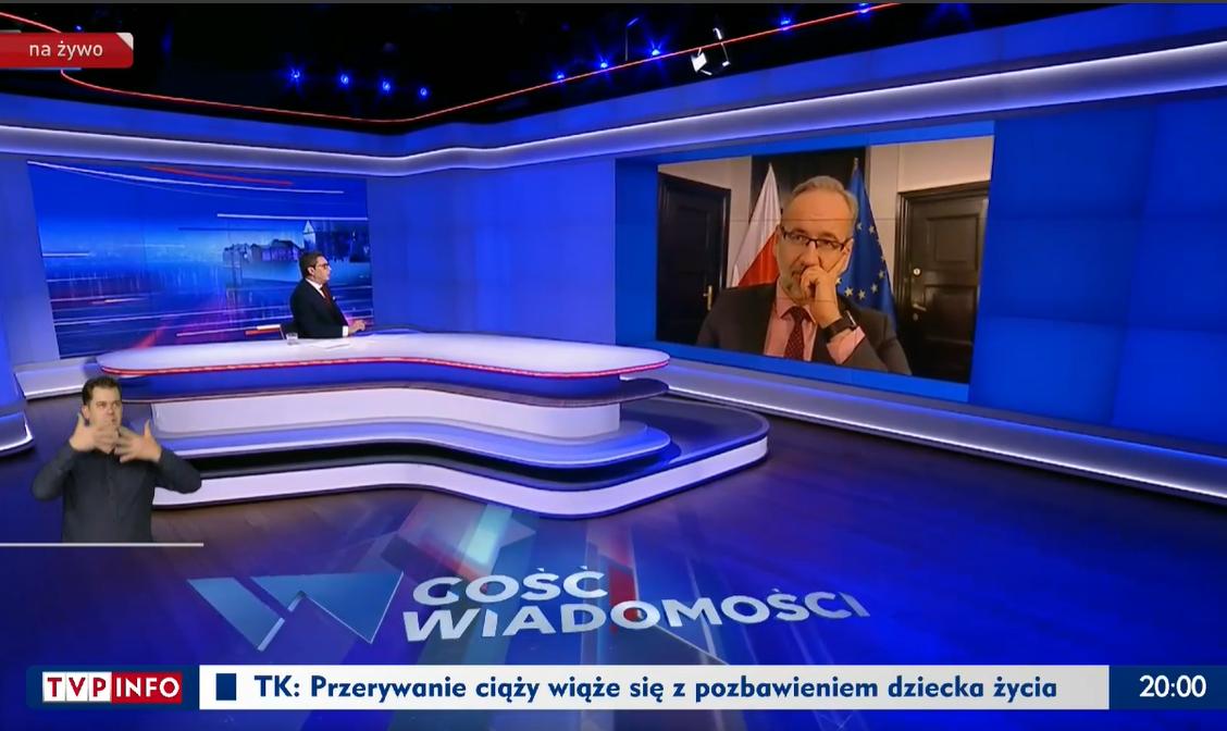 """""""Gość Wiadomości"""" z 27 stycznia 2021 roku"""
