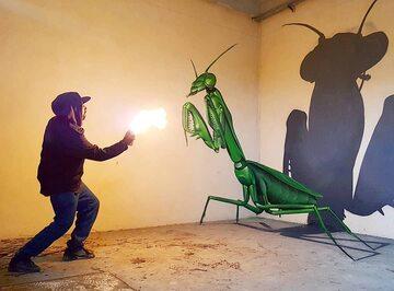 Graffiti 3D, które stworzył Odeith