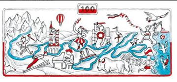 Grafika Google na 100-lecie niepodległości Polski