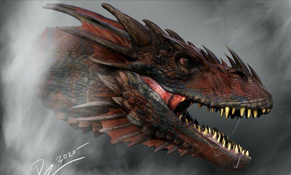 """Grafika przedstawiająca smoka z """"House of the Dragon"""""""