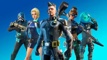 Grafika reklamująca grę Fortnite