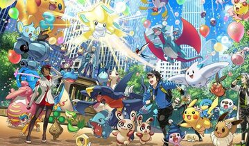 Grafika reklamująca Pokemon GO