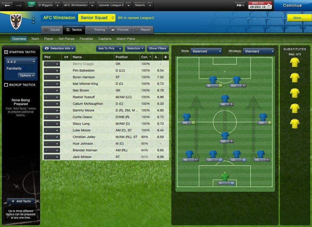 Grafika z gry Football Manager