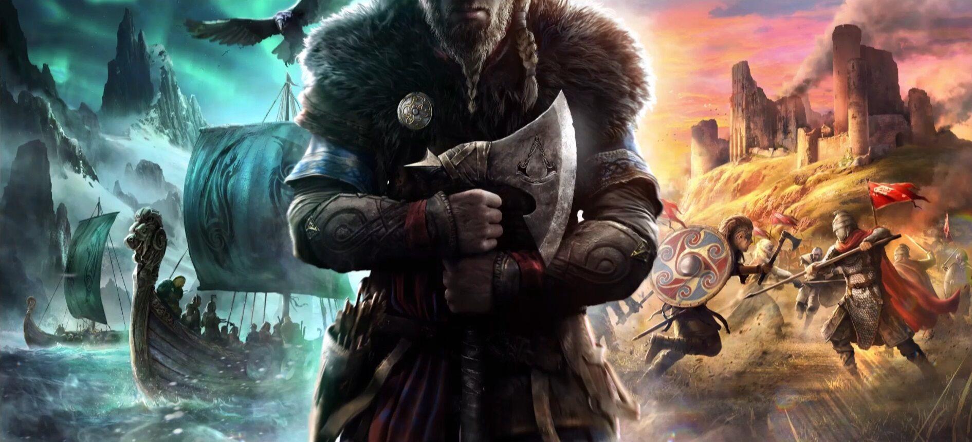 Grafika zapowiadająca grę Assassins Creed: Valhalla