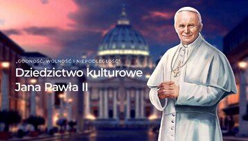 """Grafika zapowiadająca grę """"Dziedzictwo kulturowe Jana Pawła II"""""""