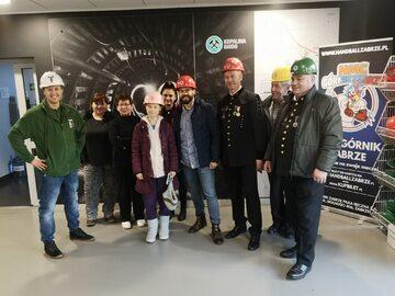 Greta Thunberg w towarzystwie polskich górników