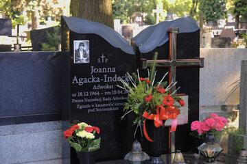 Grób Joanny Agackiej-Indeckiej