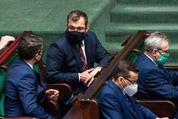 Grzegorz Puda w ławach rządowych