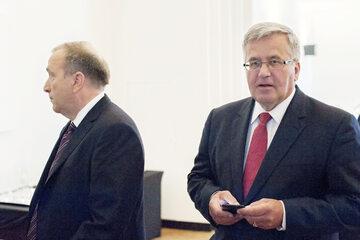 Grzegorz Schetyna i Bronisław Komorowski