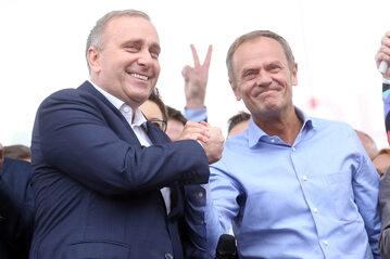 Grzegorz Schetyna i Donald Tusk w 2019 roku