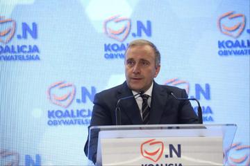 Grzegorz Schetyna podczas konwencji w Bydgoszczy