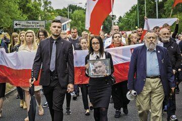 Harlow, 3 września 2016 r. – marsz upamiętniający Arkadiusza Jóźwika
