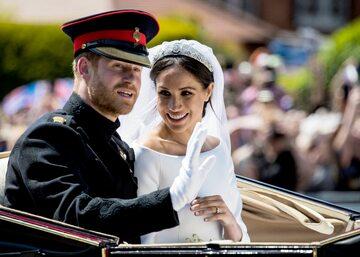 Harry i Meghan podczas ślubu, 19 maja 2018 roku
