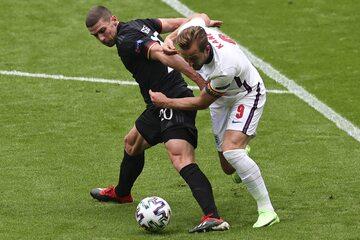 Harry Kane w meczu z Niemcami