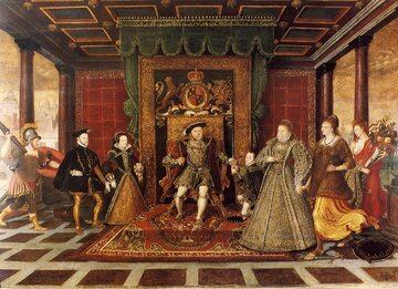 Henryk VIII z rodziną
