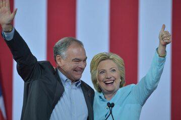Hillary Clinton i Tim Kaine