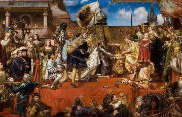Hołd Pruski na obrazie Jana Matejki