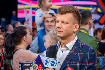 Igor Sokołowski w trakcie 28. finału WOŚP