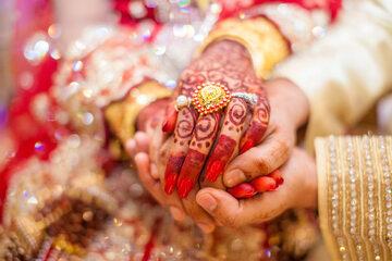 Indyjski ślub, zdjęcie ilustracyjne
