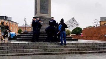 Interwencja policji w Warszawie