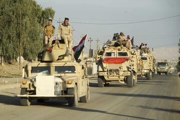 Irackie siły w Mosulu
