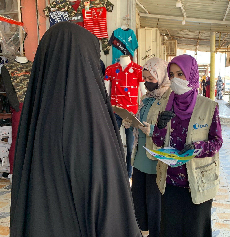 Irak. Informowanie o COVID-19