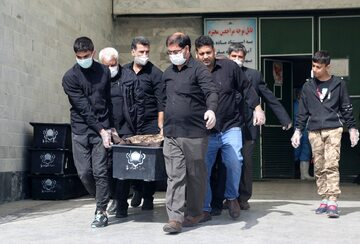 Iran, pogrzeb osoby zmarłej na koronawirusa