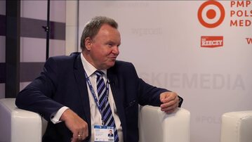 Ireneusz Merchel - Prezes Zarządu PKP PLK S.A. w strefie PMPG Polskie Media na Forum Ekonomicznym w Krynicy