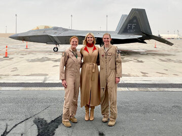 Ivanka Trump odwiedziła amerykańską bazę wojskową