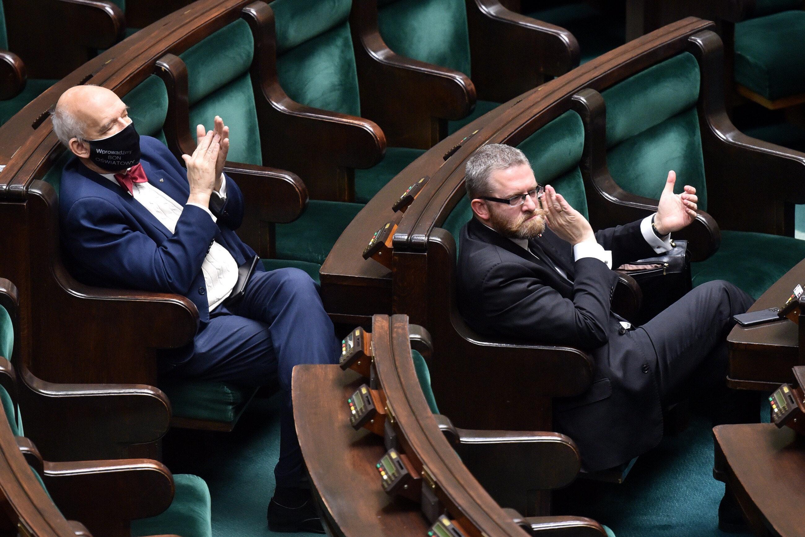Janusz Korwin-Mikke i Grzegorz Braun
