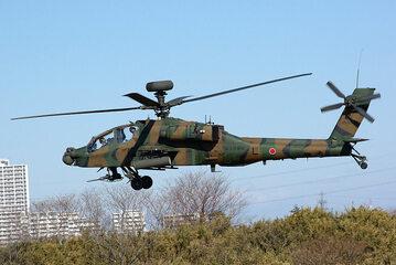 Japoński śmigłowiec Apache