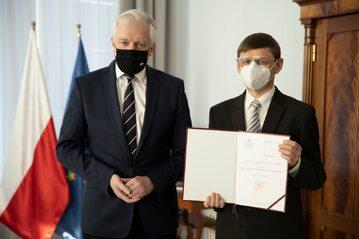 Jarosław Gowin i Grzegorz Wrochna