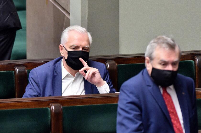 Jarosław Gowin i Piotr Gliński w Sejmie