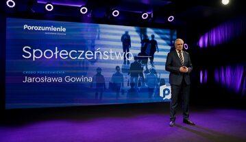 Jarosław Gowin na konwencji Porozumienia