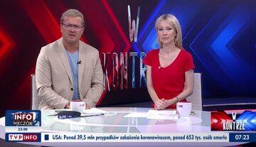 Jarosław Jakimowicz i Magdalena Ogórek w TVP Info
